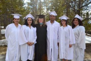 photo - Kelli McCall with graduates