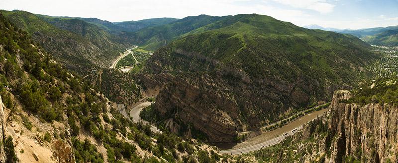 Photo of Glenwood Canyon at the west entrance