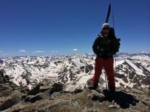 Tim Loes on Mt. Massive in June 2014