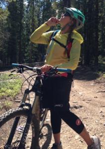 photo - Adrienne Boland mountain biking