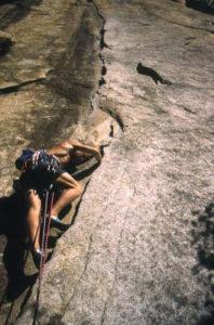 photo -Jon Bernhard rock climbing