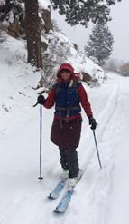 photo - Kelly Corbin backcountry skiing