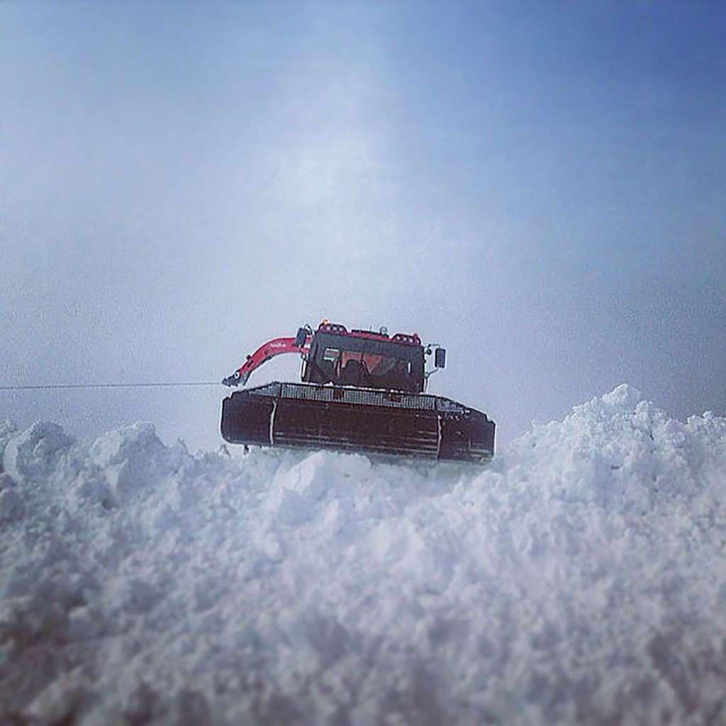Photo of Karen Gilliot in snowcat