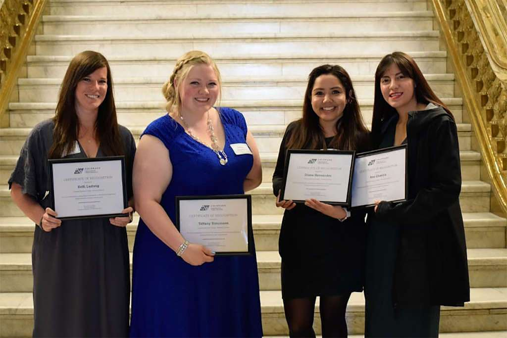 photo: Four CMC students studying elementary education have been named to the Colorado Department of Higher Education's Future Educator Honor Roll.