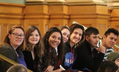 photo: TRIO students inside the Colorado Capitol.