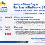 Avalanche Science program Open House Agenda_Invite2019