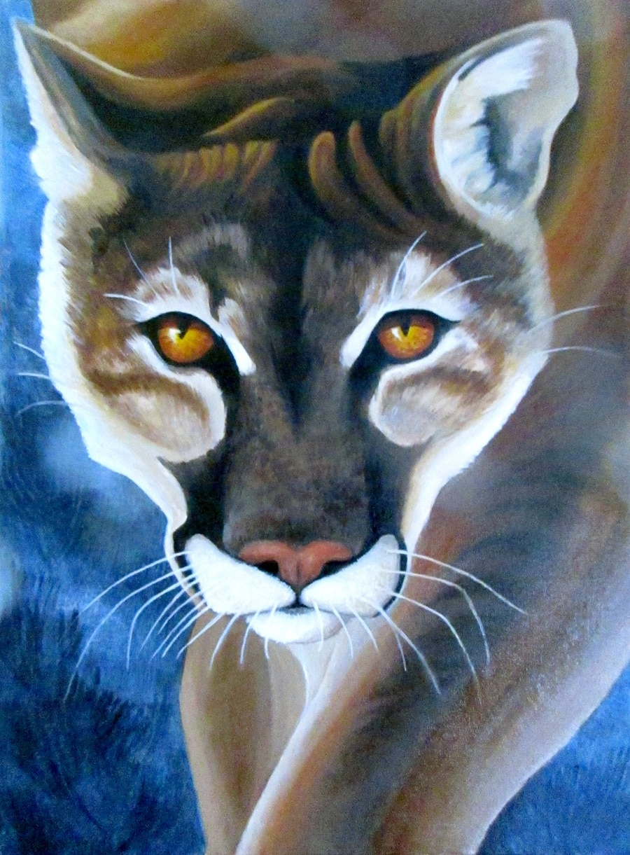 Painting of a puma by Nicolette Toussaint